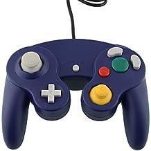 Althemax® NGC Bleu DualShock jeu Shock Joypad Manette pour Nintendo Wii GC NGC GameCube