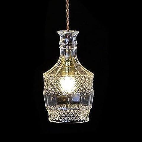 LYNDM Forma delle bottiglie lampadario moderno telecomando LED luce per