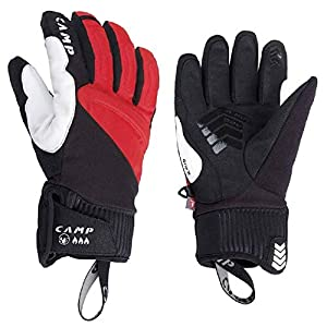 CAMP G Hot Dry Rot-Schwarz, PrimaLoft Fingerhandschuh, Größe S – Farbe Black – Red