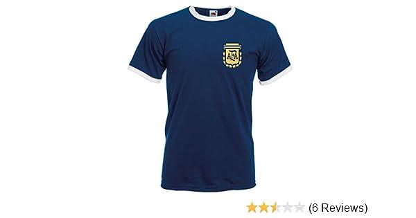 29e5abac0 Fruit of the Loom Retro Argentina Football Shirt TShirt