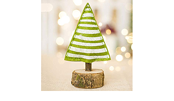 Decorazioni Natalizie 94.Ybzs 1pc Mini Albero Di Natale Rosso Verde Polk Dot Decorazioni Di Natale In Legno A Strisce Stampato Christmas Tree Kids Toy Albero Di Natale 3 Amazon It Casa E Cucina