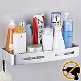 Wangel Estantería para Baño Ducha, Pegamento Patentado + Autoadhesivo, Aluminio, Acabado Mate, Estantes
