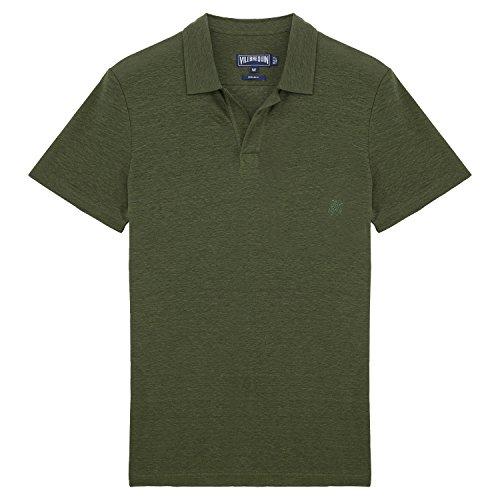 Vilebrequin - Solid-Polohemd aus Frottee - Herren OLIVEN