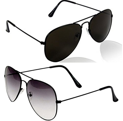 51d1af8d6e6 Younky Unisex Combo Offer Pack of UV Protected Aviator Stylish Mercury  Sunglasses For Men Women Boys