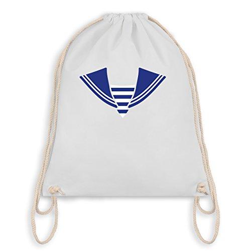 Anlässe Kind - Matrose Kostüm Kragen - Unisize - Weiß - WM110 - Angesagter Turnbeutel / Gym Bag
