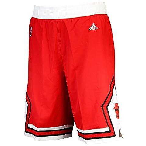 adidas Herren Intnl Swingman Shorts NBA Bulls, Rot, L, A20637