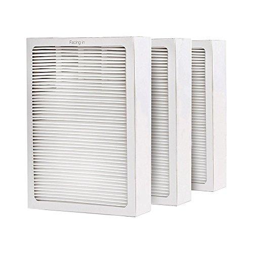 600 Series Air (VACFIT für Blueair 500/600Serie Air Filter Ersatz für Blueair Classic 501503505510550E 555eb 601603605650E Serie Luftreiniger Partikelfilter Set von 3)