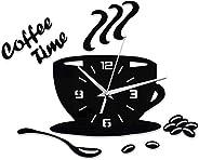 ساعة حائط من بي دبليو اس جيه، ساعة حائط صامتة ثلاثية الابعاد بتصميم ابداعي، غطاء حائط مزخرف بقطر بدون مقياس لغ