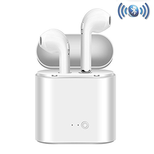 Auriculares Bluetooth, Auriculares Bluetooth con Estuche de Carga Auriculares intrauditivos Auriculares con Micrófono, Manos Libres para iPhone X 7 7plus 6S 8 8plus Samsung iOS Android Smartphones