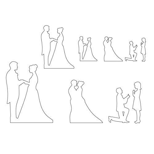 Royals® Silhouette for Decorating Cakes (Couple)