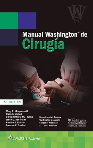 Manual Washington de cirugía por Mary E. Klingensmith