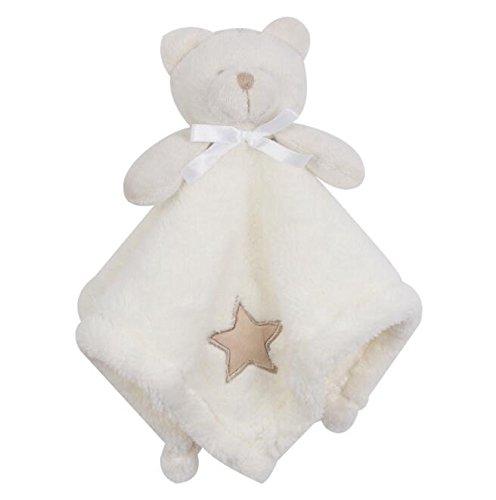 Sun Glower Weiche Handtuch Baby Tröster Spielzeug Baumwolle Handtuch Plüsch Bär Toy_Beige -