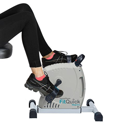 41w99TZ1HmL - FitQuick - Premium Quality - Mini Exercise Bike - Quiet, Ultra Smooth Low Impact Magnetic Resistance - Rehabilitation for the Legs and Arms - Portable Easy to Use, ideal for compact spaces, use seated on a sofa or chair. It helps Build Muscles in the legs and arms plus Strengthens Joints and Ligaments while promoting circulation - Two directional cycling benefits a wider range of muscle groups - Variable Resistance from zero to moderate. enough for exercising the Heart and Cardiovascular System.