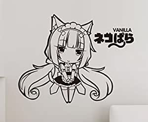 Neko para anime cosplay wandsticker cidbest cartoon wall for Anime zimmer deko