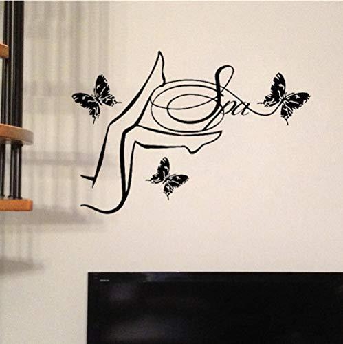 Qzheng Mädchen Halloween Wandtattoo Innenwanddekoration Aufkleber Frauen Wanddekoration Dekoration 56 * 70 Cm