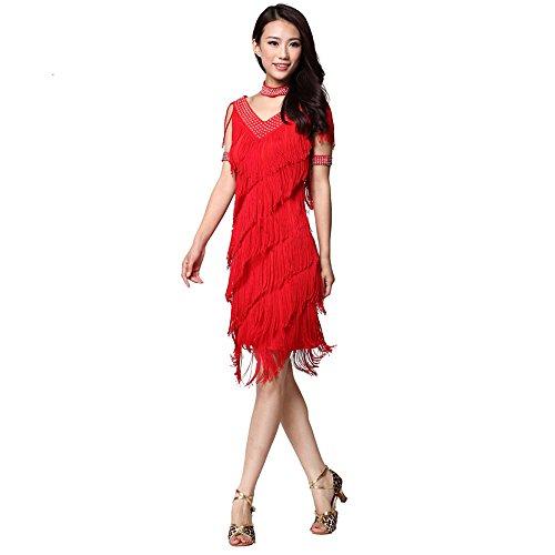 Wettbewerb Für Kostüme Verkauf Den Tanz Zum (FaithYoo Damen Schößchen Kleid Gr. xl, Rot -)
