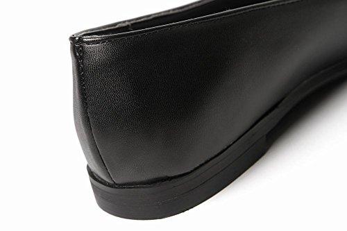 Mee Shoes Damen flach Geschlossen Perle Dekoration Pumps Schwarz