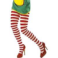Medias de Color Rojo y blanco, multicolor, nailon, payaso, Leotardos para Mujer, Enfermeras, pantis con rayas horizontales, bicolor, Carnaval, accesorios para Mujer