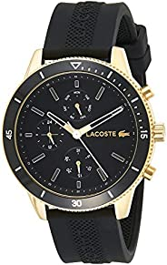 Lacoste Key West Men's Black Dial Silicone Band Watch - 201
