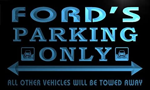 Enseigne Lumineuse qo1102-b Ford's Family PARKING ONLY Car Bar Beer Neon Sign