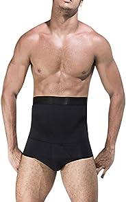 MASS21 Men's Shapewear High Waist Tummy Leg Control Briefs Anti-Curling Slimming Body Sh