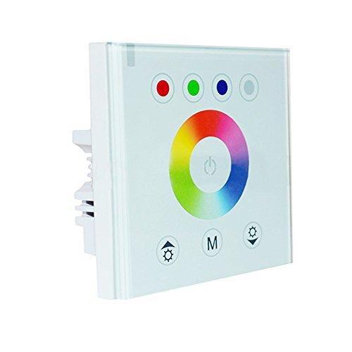rgbzone DC 12V-24V pared Panel táctil a todo color RGBW controlador dimmer, blanco o negro color, 8key o 9clave para elegir