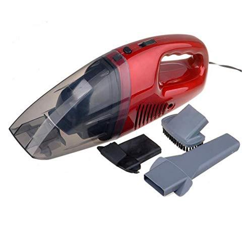 TINGTING Auto-Staubsauger, tragbarer Handstaubsauger für Auto, 12V 3-in-1 hochleistungsfähiger Nasser trockener Hoover-Rot, für Auto/Haus/Haustier