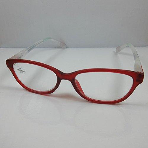 SCHILDGEN Moderne Lesebrille +2,0 rot Federbügel Lesehilfe unisex Fertigbrille
