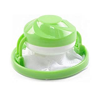 GEZICHTA Washing Machine Filter Bags, Hair Filter Net Flower-type Washing Machine Floating Lint Mesh Bag Laundry Ball Pouch (Green)