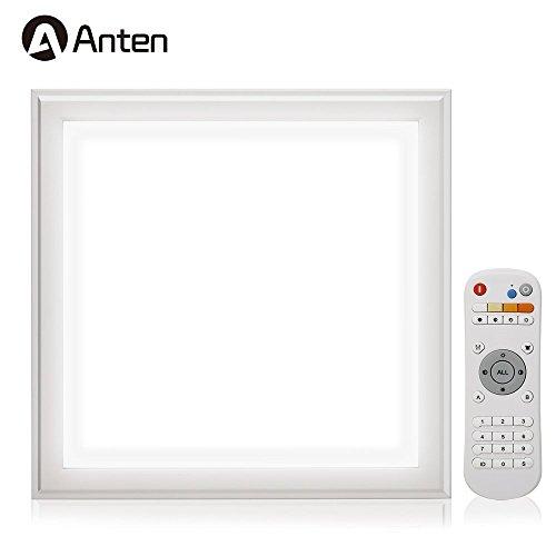 Auralum Dalle LED 30×30CM Panneau Lumière Plafonnier 12W Éclairage Intérieur Blanc Froid 6000K Lampe Encastrée avec Télécommande