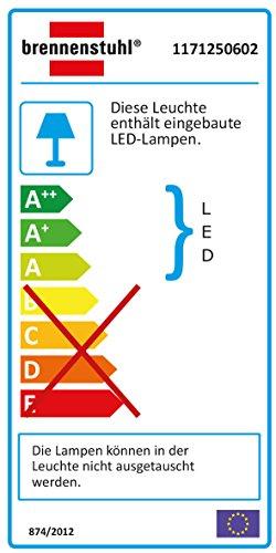 Brennenstuhl Chip-LED-Leuchte PIR IP44 mit Infrarot-Bewegungsmelder, 3 m 1171250602 - 2