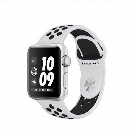 Apple Watch Nike+ OLED GPS - Reloj Inteligentes (OLED, Pantalla Táctil, GPS (Satélite), 18 h, 26,7 g, 38 mm, Plata/Negro)