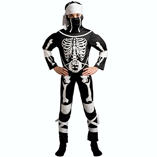Unbekannt Kostüm Skelett Ninja-Größe 3-5+ Jahre (Skelett Ninja Kostüm)