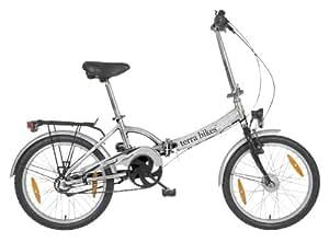 Terrabikes / 84033 Vélo pliable 3 vitesses Cadre 50,8 cm Argent