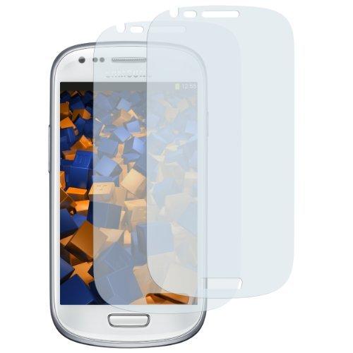 mumbi Schutzfolie kompatibel mit Samsung Galaxy S3 mini Folie matt, Bildschirmschutzfolie (2x)