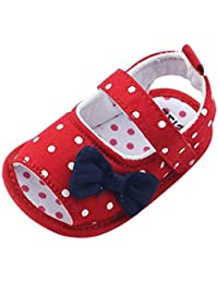 Zapatos Bebé prewalker verano Xinantime Sandalias bebé Niña Bebé Zapatos Princesa Bowknot - Zapatos de vestir (9-12 meses, Rojo)
