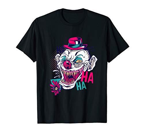 Halloween Gruseliger Unheimlicher Lachender Horror Clown T-Shirt (Kostüm Clown Unheimlich)