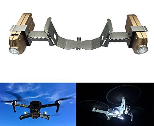 Preisvergleich Produktbild Roboterwerk Drone Headlamp / Duales Nachtflug LED Licht (DJI Mavic Pro und Mavic Pro Platinum Drohne Zubehör Lampen) - 720 Lumen hellweiß (FPV Beleuchtung), 360° stufenlos neigbar, bis zu 90 Minuten Akkulaufzeit