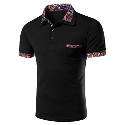 CXQ-T-Shirt QIN X Hommes Pull à Manches Courtes Revers Polo Casual Tops des eed69b6e7191