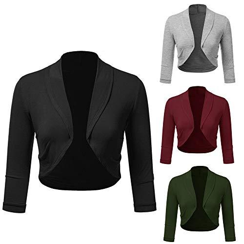 VJGOAL Mantel Damen Jacken Elegant Große Größen Frau Business Blazer Anzug Langarmshirts Slim Jacket Outwear 3/4 Ärmel S-5XL Strickjacke Browning-camo Sweatshirt