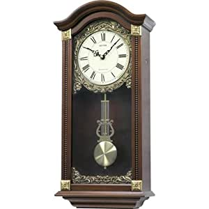 watching clocks horloge murale de qualit en bois avec pendule carillon westminster grand format. Black Bedroom Furniture Sets. Home Design Ideas