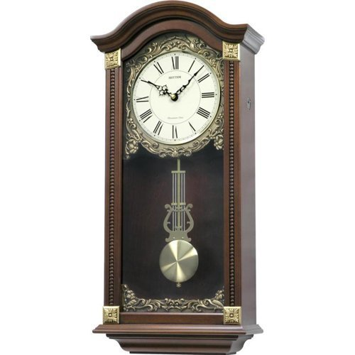 Large Deluxe Wooden Pendulum Wall Clock - Westminster Chime by Watching Clocks