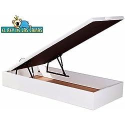 Canape abatible NATURA madera 135*190 color BLANCO. Gran capacidad 29cm util de almacenaje. Transporte y montaje GRATUITO en toda la Peninsula Española