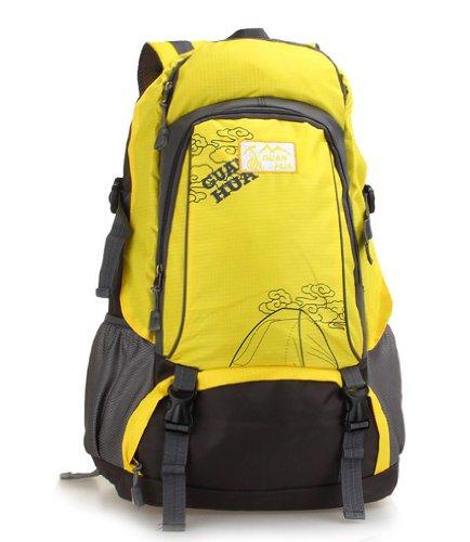 ADS 40L capacità zaino da escursionismo/campeggio borsa/zaino/borsa sportiva con Fanny confezioni, uomo, Zaino, nero giallo