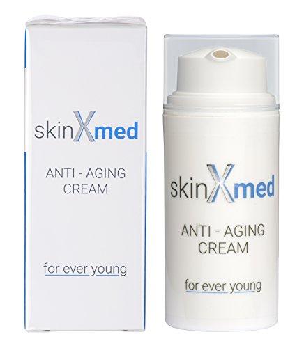 skinXmed Crema facial Antiarrugas para mujer y hombre | Hidratante, anti-manchas, anti-ojeras | acción anti-edad con…