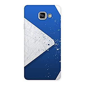 Delighted Blue Paint Work Job Back Case Cover for Galaxy A7 2016