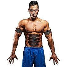 Bahpaud Allenatore Elettrostimolatore Muscolare EMS a 8 Punti, Massaggiatore Elettrico Trainer Muscolare ABS Massaggi Attrezzi dell' Addome, Gambe, Braccio, Cintola e Glutei per Uomi e Donne.