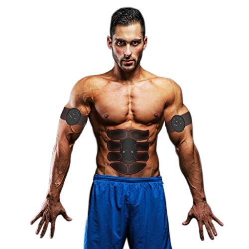 Bahpaud Electroestimulación Muscular EMS de Abdominales, Electroestimuladores Musculares Estimulador Eletronico ABS Tools a 8 Puntos para Abdomen/Cintura/Pierna/Brazo/Butto.
