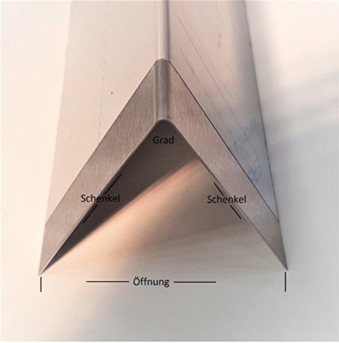 Preisvergleich Produktbild Edelstahl Aromaschiene 365mm (36,5cm) lang Flammenverteiler Gasgrill Flammenblech 0,8mm V2A K240 (Schenkel: 55x55mm, Grad: 110°)