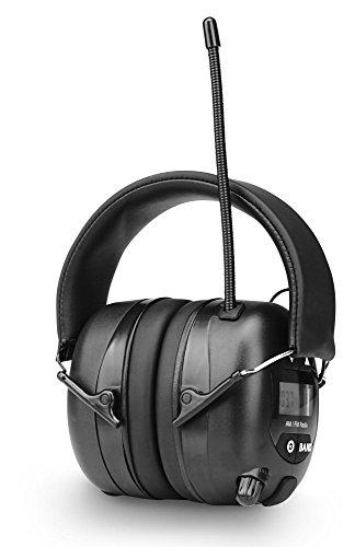 Beatfoxx IH-2B Tough Phones Kapselgehörschützer (Gehörschutz Kopfhörer, für Musiker und Arbeiter in lauter Umgebung, schützt perfekt vor Lärm und Kälte, mit AM/FM Radio, Pegelbegrenzung) schwarz